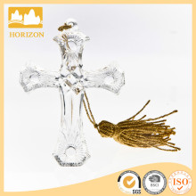 New high quality clear cross glass dome ornament decor