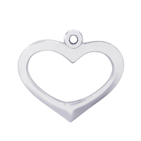 Simple Design Bulk Cheap Fashion Alloy Open Hollow Heart Charms For Jewelry Accessories