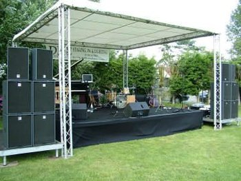 Aluminum Structure Truss With Pvc Cover And Portable Stage