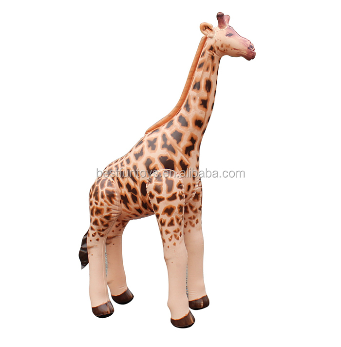 OEM Factory Big Inflatable Giraffe Giant Plastic Animals Toys Decorative  Giraffe Toys