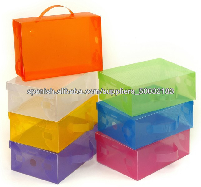 Caja de zapatos kit cajas para zapatos u otros for Cajas de plastico transparente