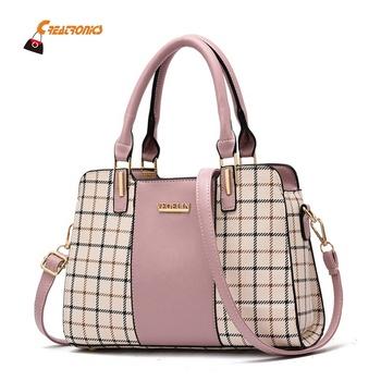 1 Uds. Bolso Vintage bolsos de hombro para mujer Bolso grande de cuero PU bolso bandolera negro, marrón, rosa
