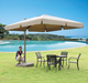 Big Sun Garden Outdoor Used Aluminium Parasol Beach Rome Umbrella