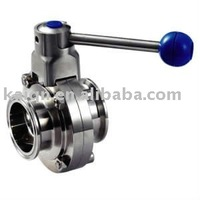 sanitary SS304/SS316 quick-install butterfly valve