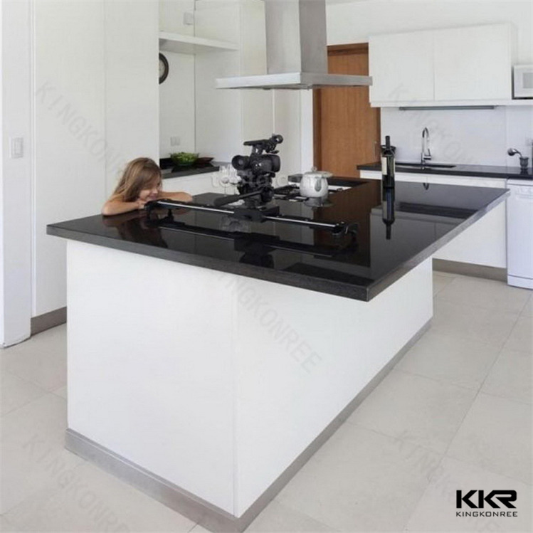 Waterproof Solid Surface Outdoor Kitchen Countertop / Acrylic Solid Surface Worktop