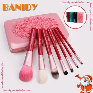 Travel makeup brush set with different designs as Christmas gift