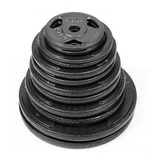 Three Holes Cast Iron Barbell Weight Lifting Plate