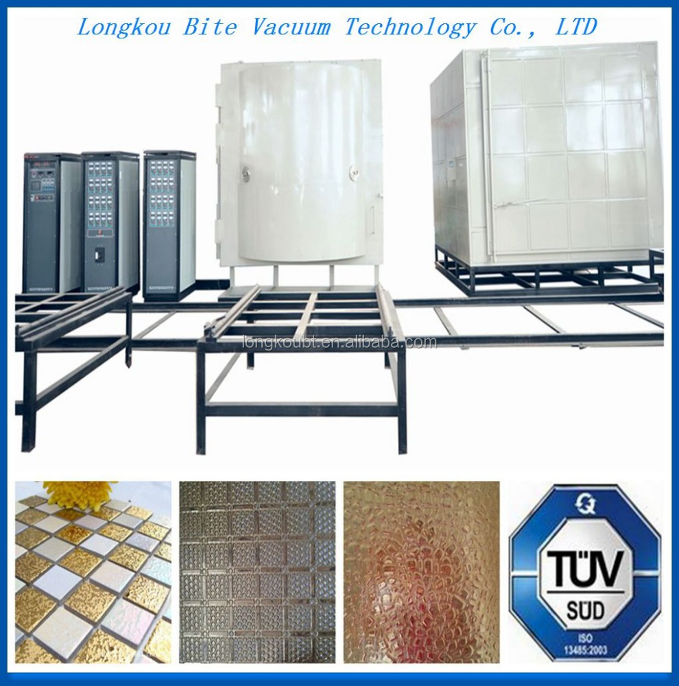 latest technology pvd lattice/mosaci gold color chrome ion depostion production line/ pvd cathode arc spraying coating machine