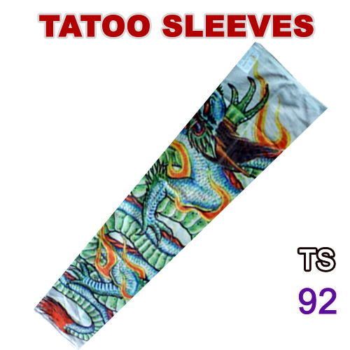 Men's Arm Warmers Creative Anti-sunshine Fashion Men And Women Tattoo Arm Leg Sleeves High Elastic Nylon Halloween Party Dance Party Tattoo Sleeve