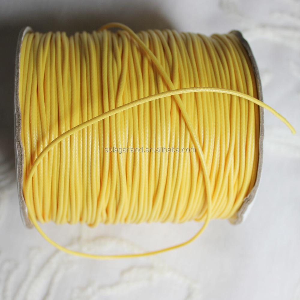 Wholesale 1.0 1.5 2.0MM Korean Wax Line Cord Twist Rope Wire Bracelet And Necklace Accessories