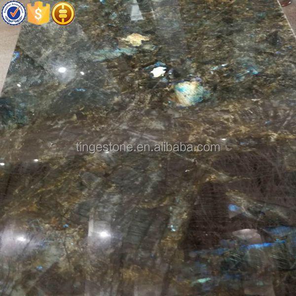 Luxury Madagascar Labradorite blue granite for wall decoration