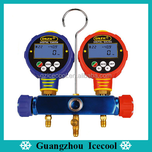 R134A R410A R404A R1234yf R245fa Super High Accuracy Digital Manifold Gauge Set WK-6882L