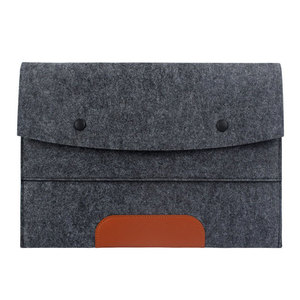 Eco-friendly multifunctional notebook case bag leather felt laptop bag 15.6 inch