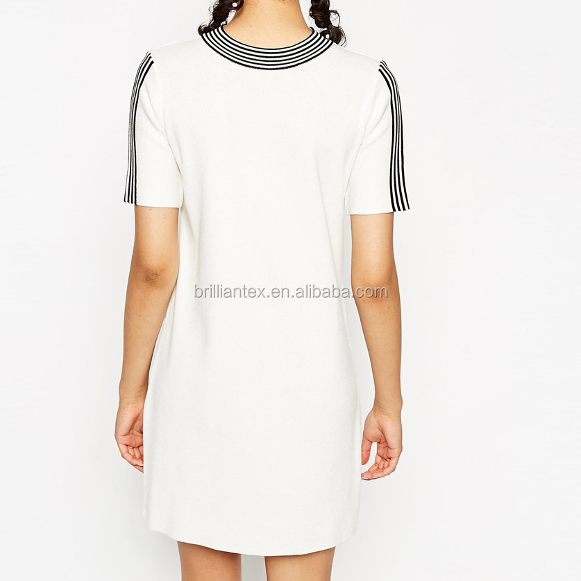 100%cotton High Quality Elegant Custom High Neck Summer Dress