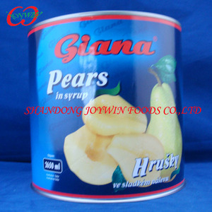A10 can size fruits, canned pears halves in light syrup