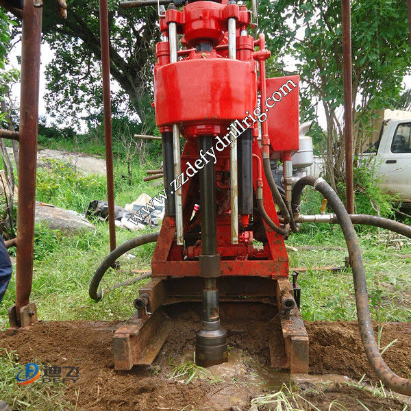 hot in South Africa small trailer mount drilling rig, hand water well drilling equipment