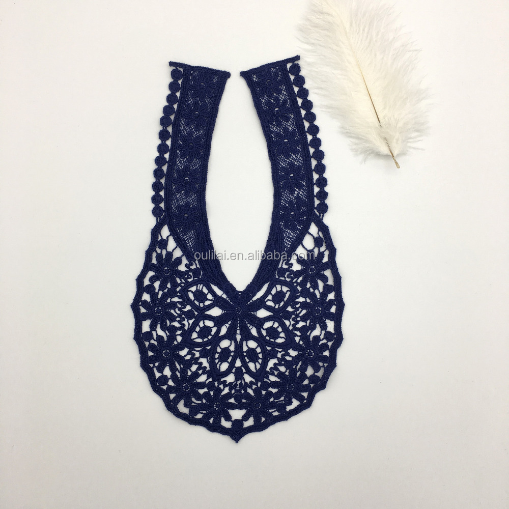 ZJ OLILAI poly collar lace applique