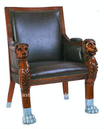 Perfect Solid Wood Hand Carved Lion Head Leather Church King Chair   Buy King Chair  With Leather,Wooden Carved King Chair,Leather Occasional Chairs Product On  ...