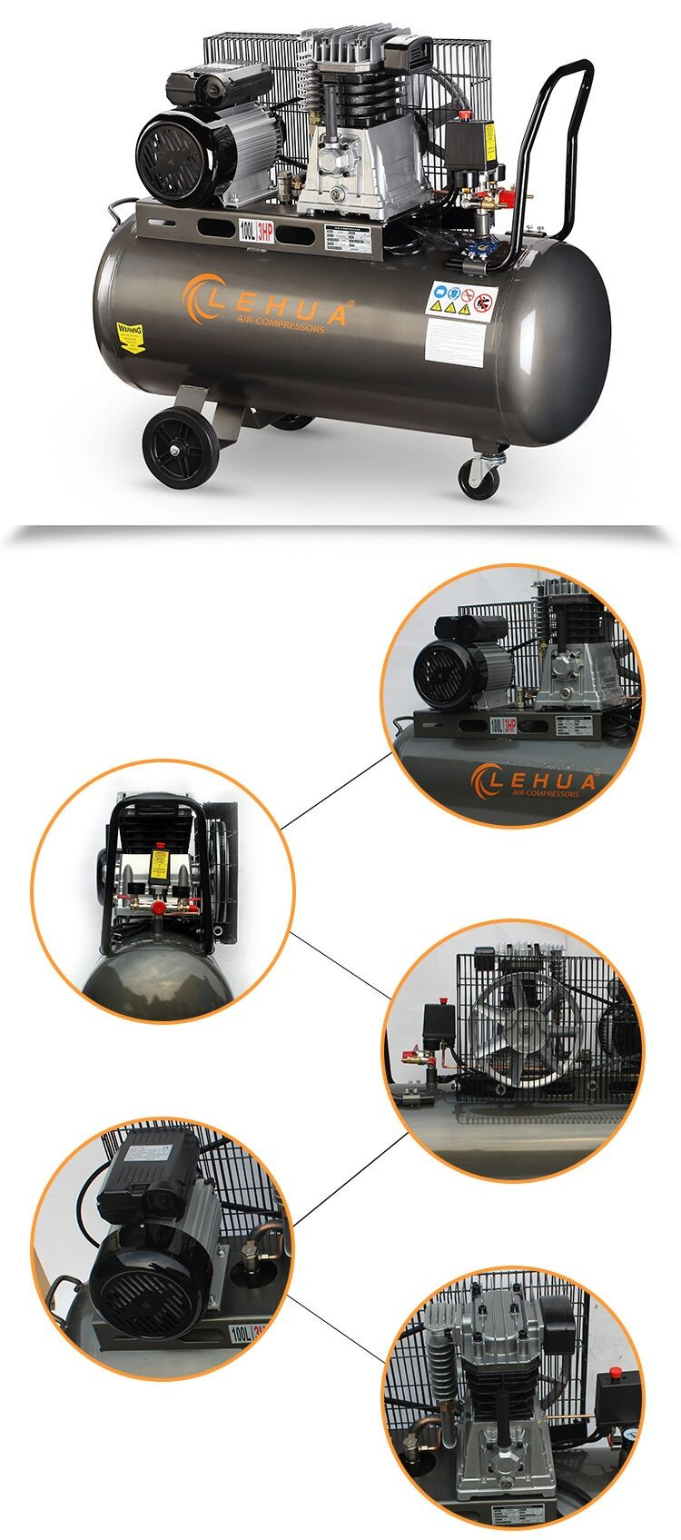 compressor manufacturing high quality belt air compressor for mining using