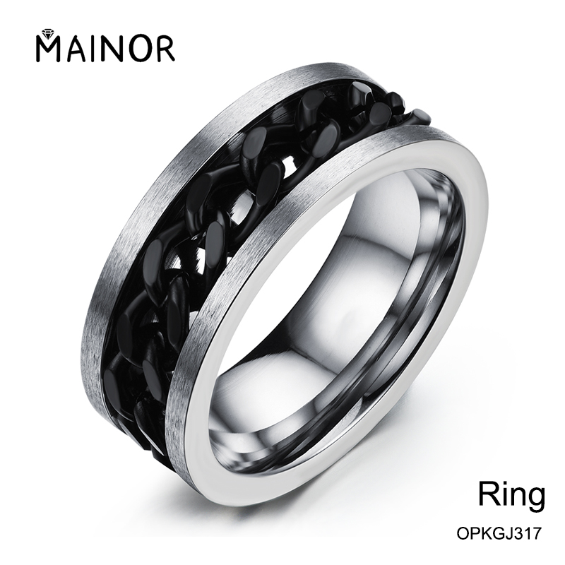 Trendy Jewelry 316L Spikes Stainless Steel Wedding Ring