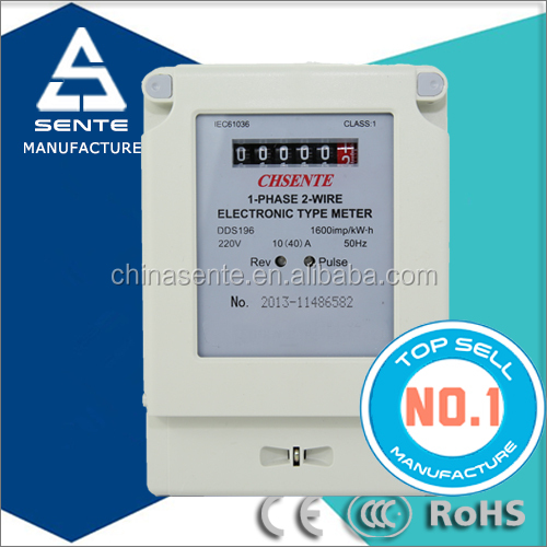 DDS196 TYPE single phase din rail electronic analog watt hour digital electric meter kwh rs485