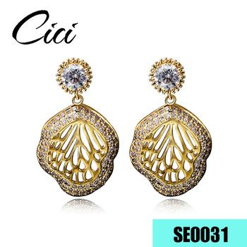 Saudi Arabia Fashion Jewellery 24 Carat Arab Gold Plating Hoop Earrings For Women