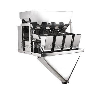 Automatic 4 Head 3L bucket Linear Weigher for granule foods Packaging