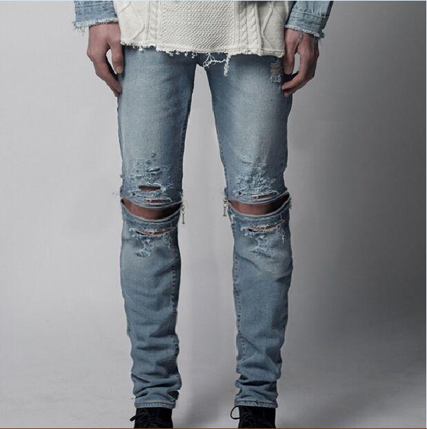 Ripped Jeans For Men Light Blue Bbg Clothing