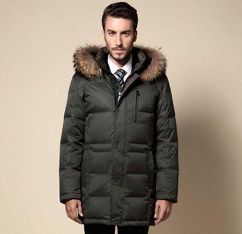 e7a4dfe6a0d0 95% White Goose Down Jacket Men Ultralight Down Jacket Outdoors Windproof  Waterproof Stand Collar Winter