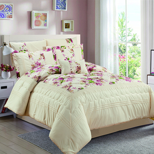 KOSMOS bedding floral lace and embroidery bright color 8 pcs comforter set