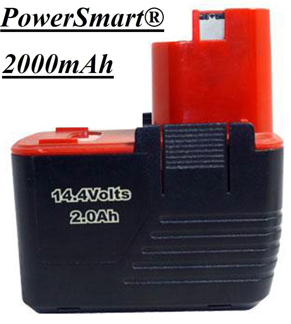 PowerSmart 14.4V 2.0Ah Ni-Cd Replacement Cordless Battery BAT 015 BH 1454 for Bosch 26156801, 3610-K10, 3610K, 3612, 3615K, 3650, 3650K