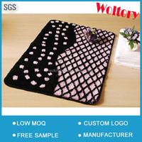 Washable polyester acrylic skidding proof Lace Bathroom Floor Rugs