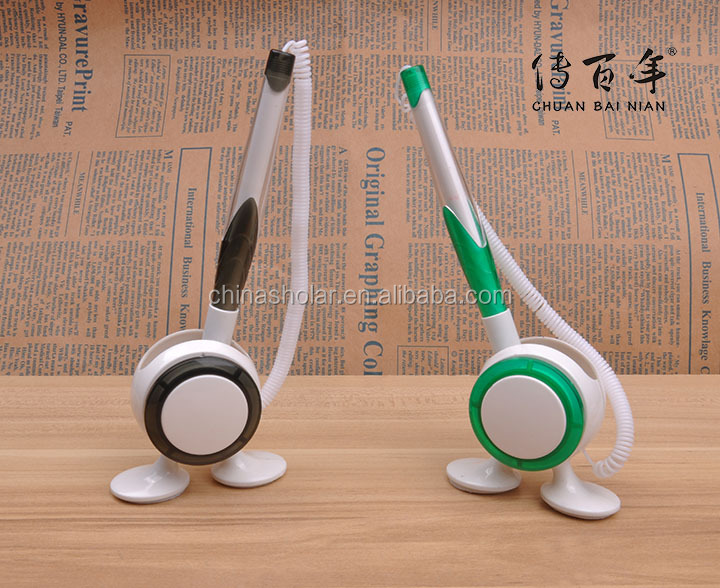 High quality plastic promotional desk fixed table ball pen with chain