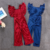 Wholesale kids spring and autumn girls sexy solid color gold velvet jumpsuit strap trousers