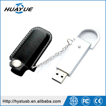 Official USB Mass Storage Devices 2.0/3.0 8GB Leather Flash Disk With Key Chain