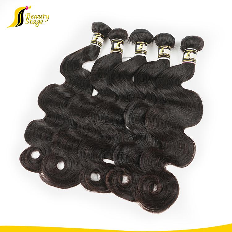 Menschliches reines indisches Angolahaar 100%, falsches Haar des besten Preises, Körperwelle Shenzhen-Haar