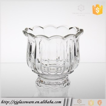 Wholesale Pedestal Decorative Clear Crystal Glass Vase For