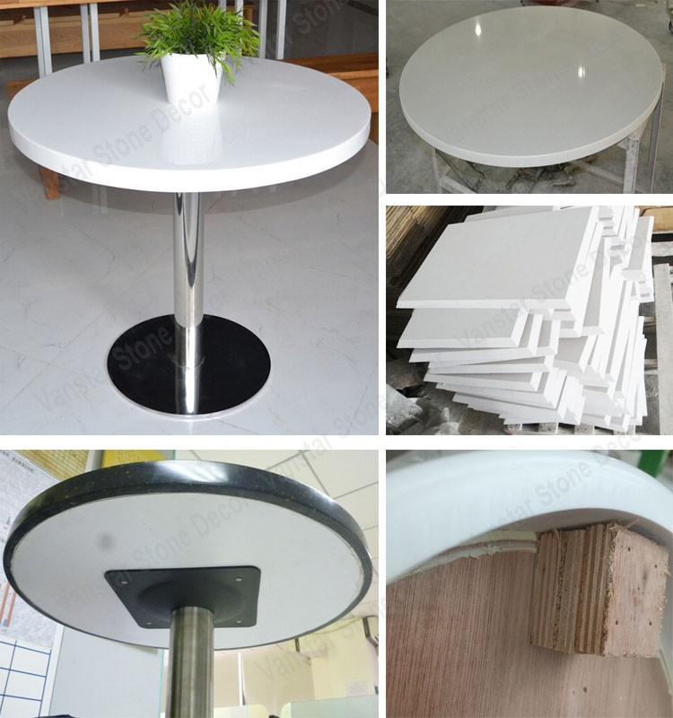 Custom made artificial stone marble top dining table buy for Custom made marble dining tables