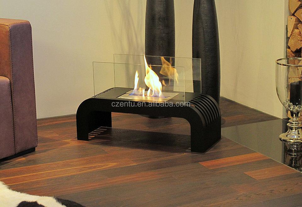 Fireplace Design alcohol fireplace : Custom Handmade Modern Corner Indoor Freestanding Bio Alcohol ...