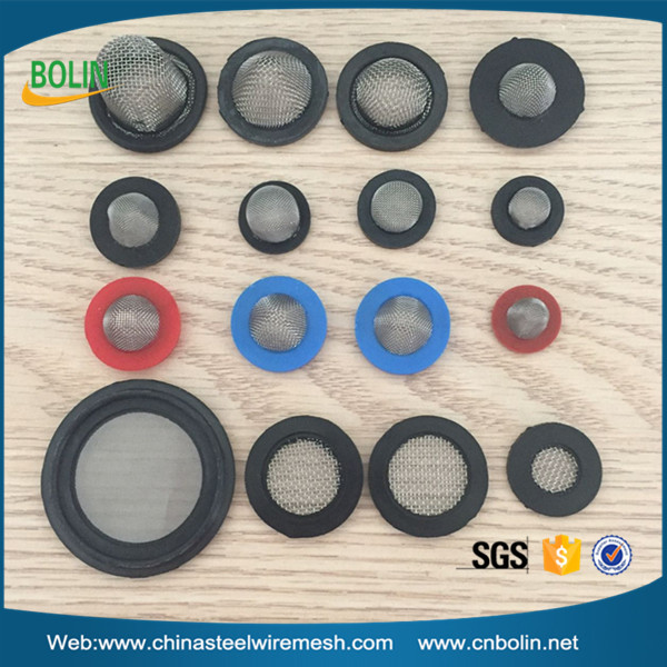 Stainless Steel Water Tap Filter Mesh Rubber Washers For Shower Head ...
