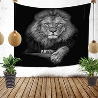 97*73cm Lion Craft New Fashion 100% Polyester Tapestry Wall Hangings Mandala Tapestry Amazon Supply