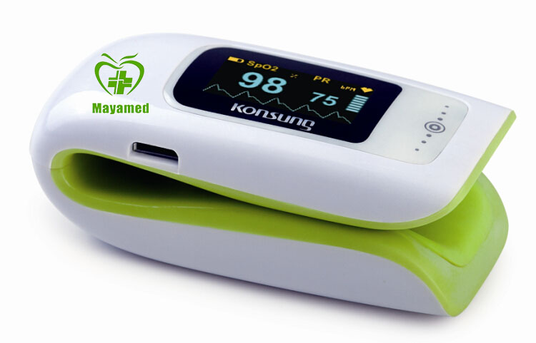 2015 new digital LED display Spo2 visual handheld fingertip pulse oximeter with bluetooth function