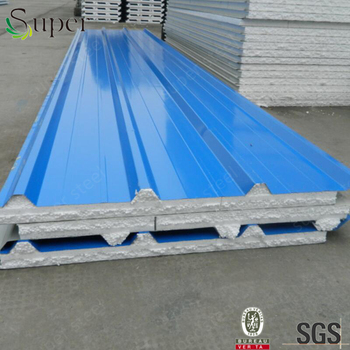 Metal Insulated Polystyrene Corrugated Roof Sandwich Panel Factory Price  Eps Sandwich Panel - Buy Eps Sandwich Panel,Polystyrene Corrugated Roof