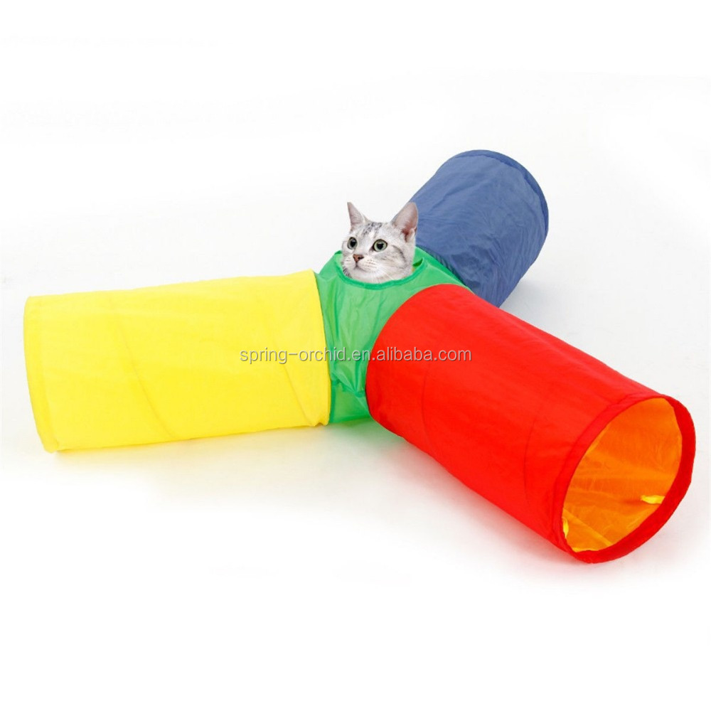 Cat Tunnel 3 Way 4 Holes One Hole Pet Toys Colorful Funny Cat Kitten Toy Tunnel