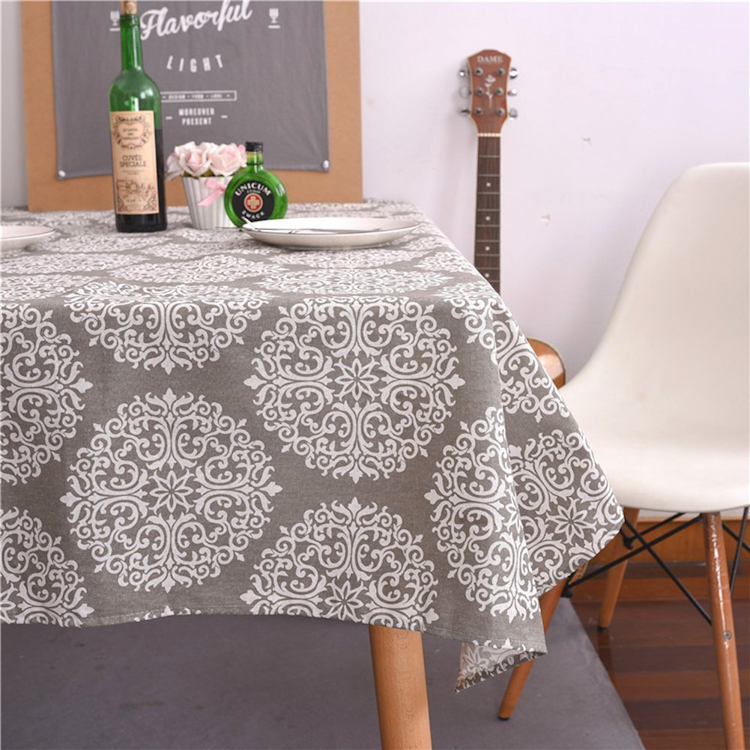 100% polyester waterproof new designs satin rectangle table cloth