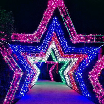 large led christmas lights 3d star arch motif lights