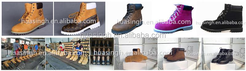 XLY duro usando goodyear welt único 6 pulgadas moda botas de trabajo color miel de los hombres botas HSB217