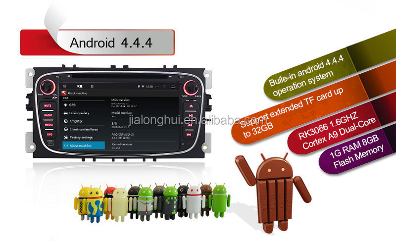 Double Din Android 4 4 Car Audio Car Dvd For Ford Focus Mondeo S-max Kuga  With Wifi,Bt,Swc,1080p Video Playback,3g Optional - Buy For Ford Focus 2013