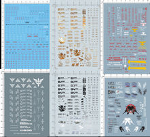 Gundam Decla ( Stickers ) For All Gundam Model Kits