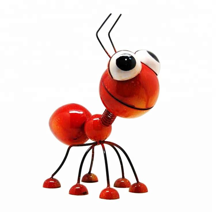 Sevimli Dayanıklı Metal Karınca Bahçe Sanat Ekici Süslemeleri El